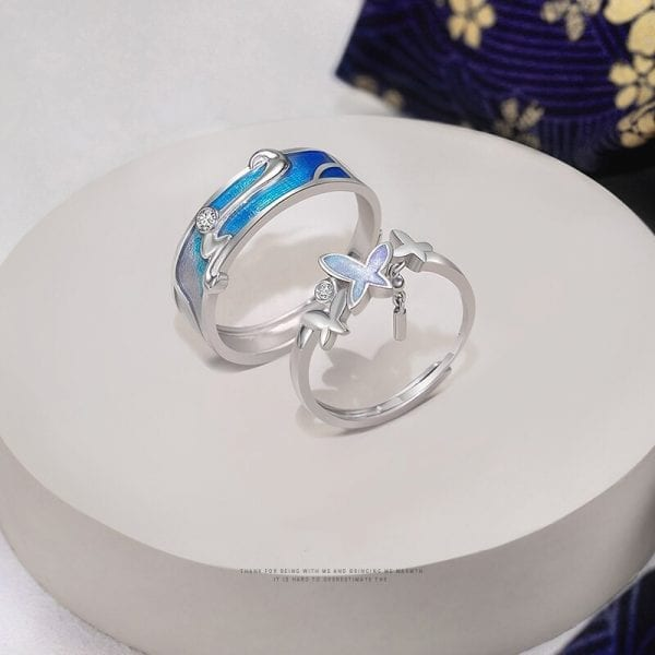 Couples Butterfly Ring
