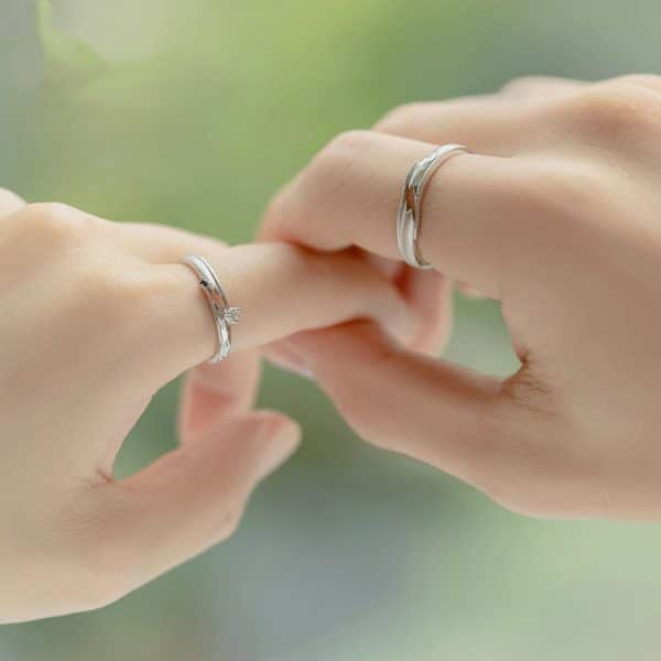 Thaya Meet By Chance Design Rings High Quality S925 Sterling Silver Jewelry Couple Ring For Wedding