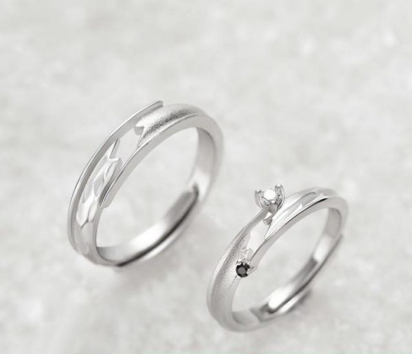 Thaya Meet By Chance Design Rings High Quality S925 Sterling Silver Jewelry Couple Ring For