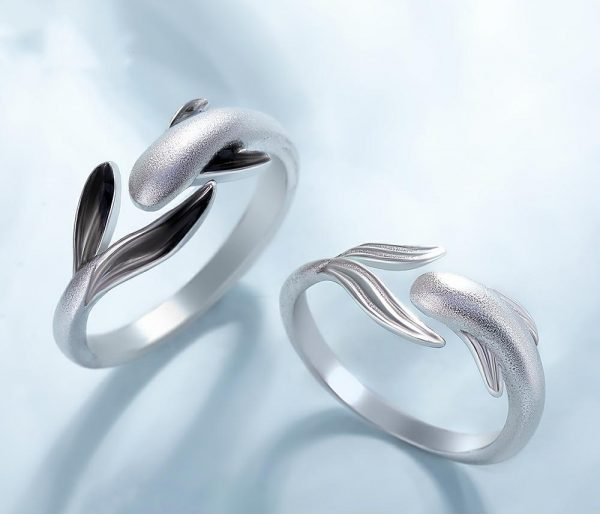Thaya S925 Sterling Silver Ring Lively Meandering Fish High Quality Jewelry Rings For Women Lovers Gift